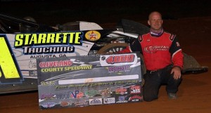 Casey Roberts displayed power and patience Friday en route to a $4,000 Ultimate Super Late Model Series win at Cleveland County Speedway. The reigning series champion utilized lap traffic to his advantage to overtake Jonathan Davenport for the winning pass, then showed his seasoned prowess to the huge crowd assembled around the 4/10-mile oval the rest of the way.